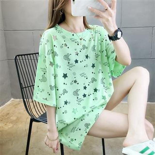 F60575 中長款寬鬆圓領T恤(三色)