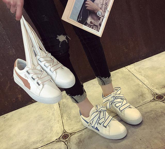 韓版交叉綁帶板鞋