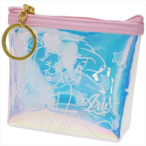 迪士尼公主 小美人魚 零錢包 極光 小包