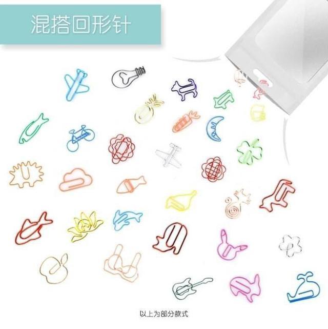 【麓芳工作室】【現貨】創意異形彩色回形針30入