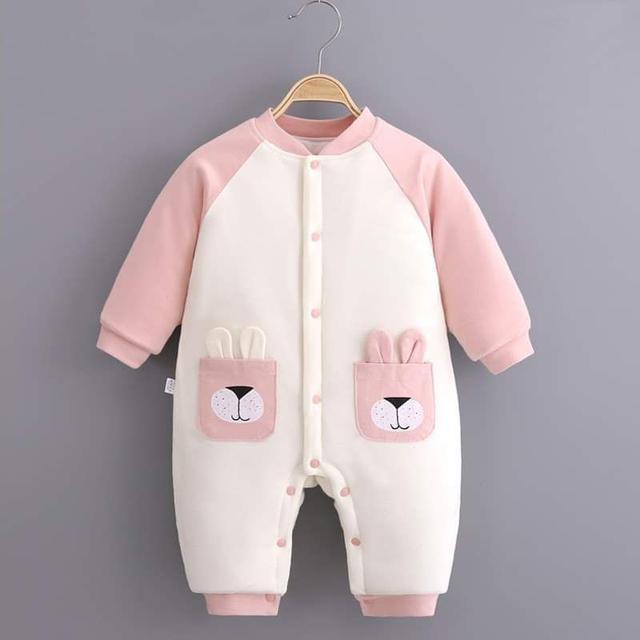 【預購】寶寶純棉保暖爬服