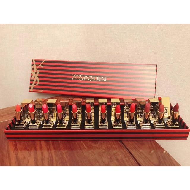 限量版 新款YSL聖羅蘭限量版方管口紅小樣12支裝套盒