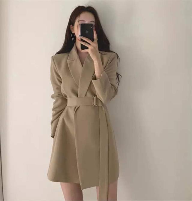 【預購】中長版縮腰西裝外套