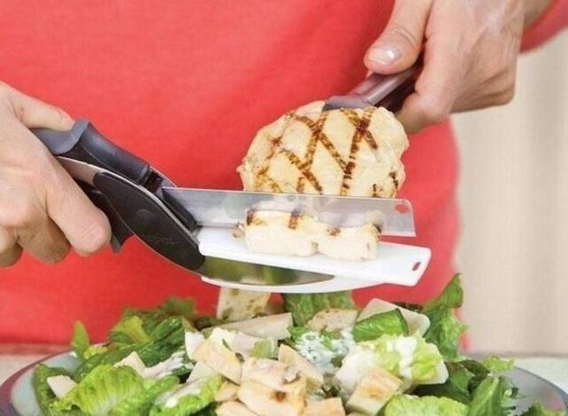 (預購e) 二合一多功能廚房蔬菜聰明剪刀