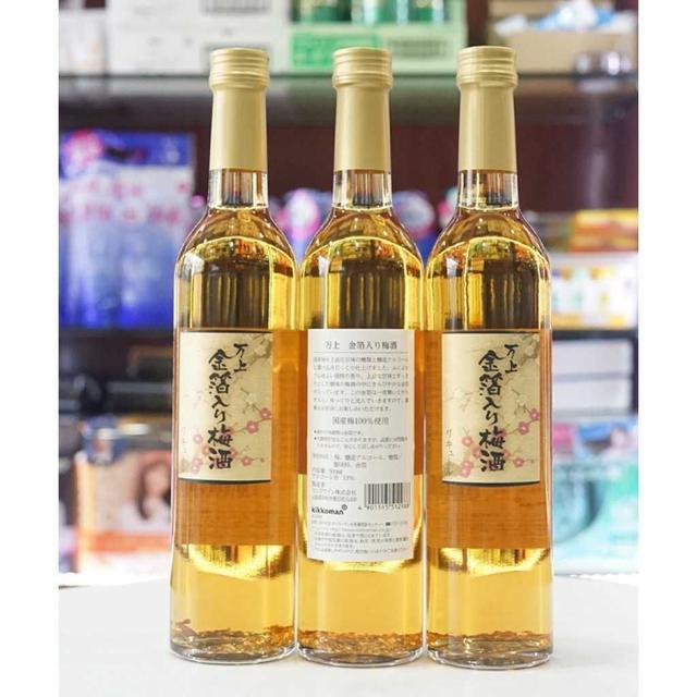 日本萬上 umeshu 金箔梅酒-500ml(附盒子)
