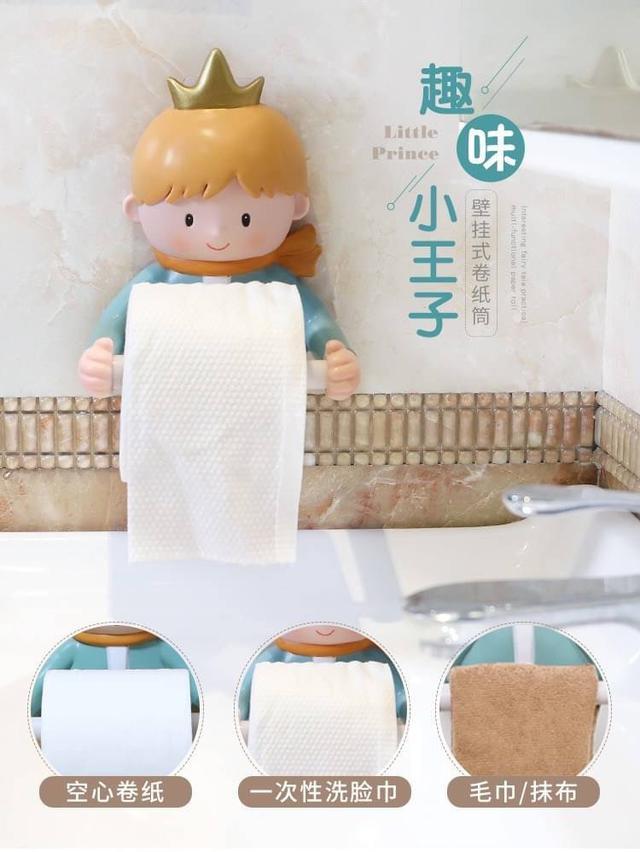🌺 童話趣味捲紙毛巾架(預)