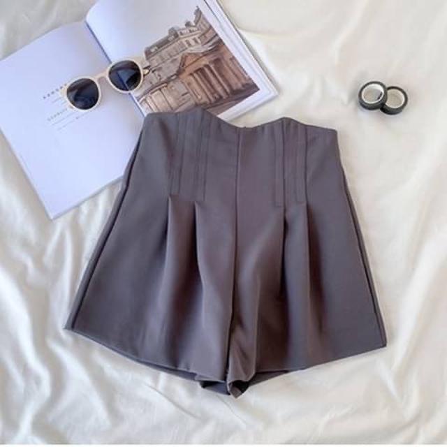 🎆(G01978)女薄款高腰顯瘦寬鬆a字闊腿熱褲