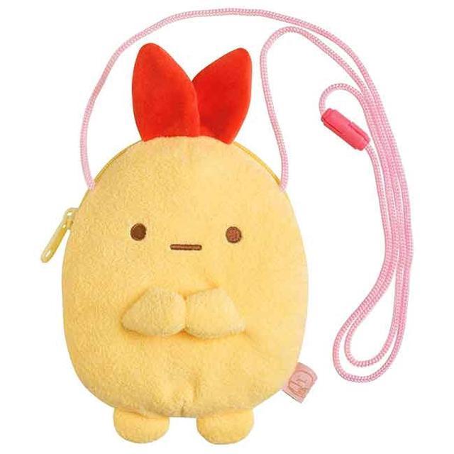 日本正版授權 絨毛角色側背包 角落生物 炸蝦