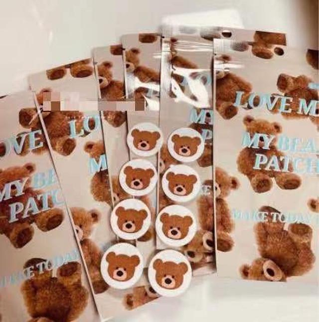 韓國 泰迪小熊口罩貼 (一包8貼)