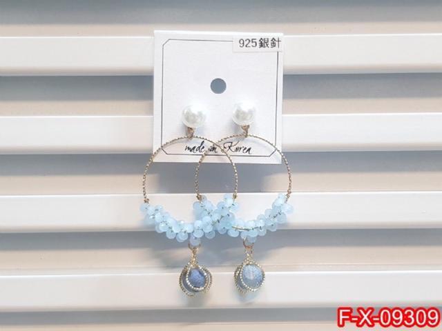 ❣️ 正韓S925純銀 精緻珍珠水晶圓環耳環   耳針 韓式❣️