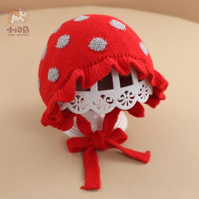 秋冬季可愛超萌毛线帽寶寶冬天公主宫廷帽(貝)