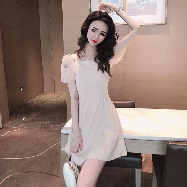 10 S-XL 禦姐風性感氣質a字流行連衣裙 兩色