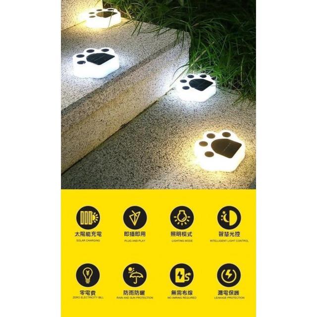 #預購G1067 - 太陽能戶外防水熊掌燈