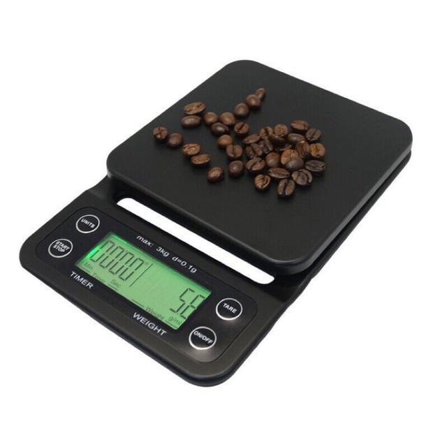 帶計時功能手沖咖啡秤 0.1g 3kg電子秤 廚房秤 家用秤