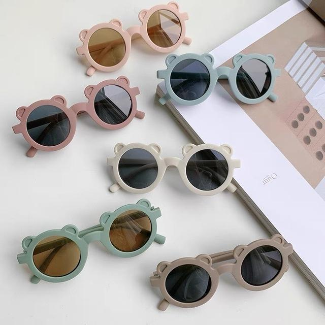 ins系可爱小熊造型兒童太陽眼镜