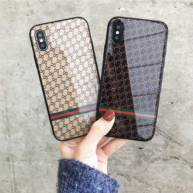 蘋果6手機殼奢華玻璃鏡面iPhone7plus/X硅膠防摔6S歐美男女款潮8P