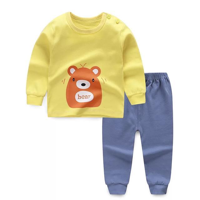 新款童裝秋冬兒童內衣套裝純棉寶寶秋衣秋褲嬰兒睡衣家居服潮批發