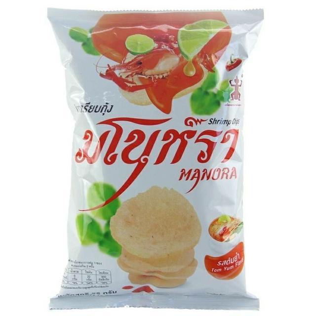 泰國 MANORA 蝦片-酸辣味