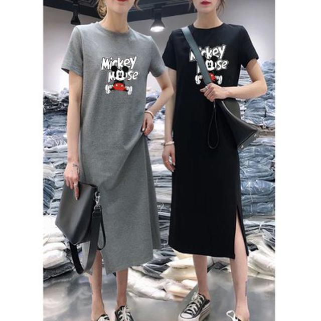 韓版夏日休閒短袖連衣裙