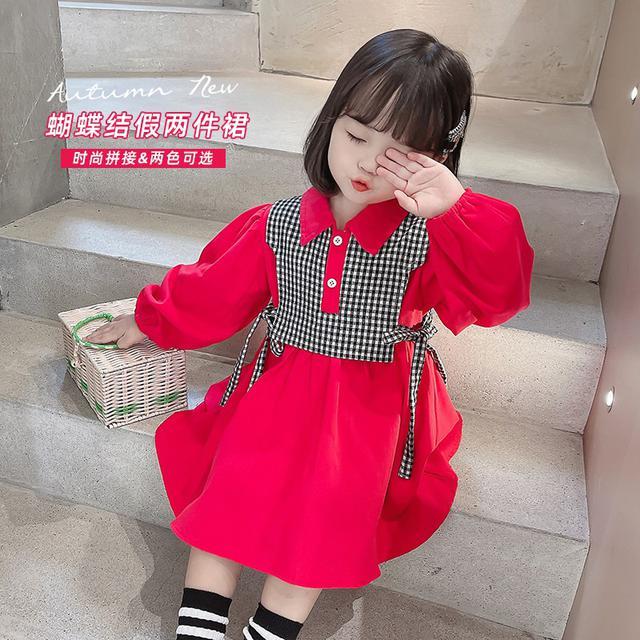女寶寶洋氣兒童衣服秋装兩件套(貝)