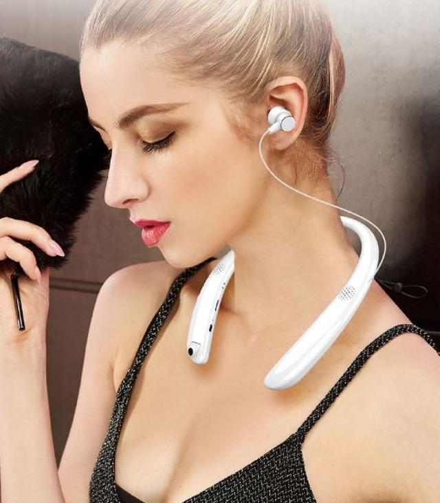 攝像頭藍芽耳機 行車紀錄器 磁吸耳機 無線頸掛 運動跑步藍芽耳機