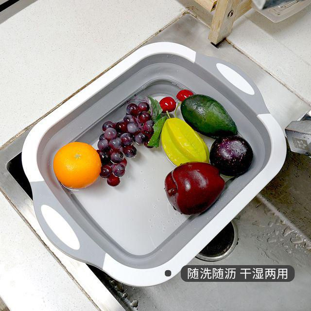 多功能摺疊瀝水菜板