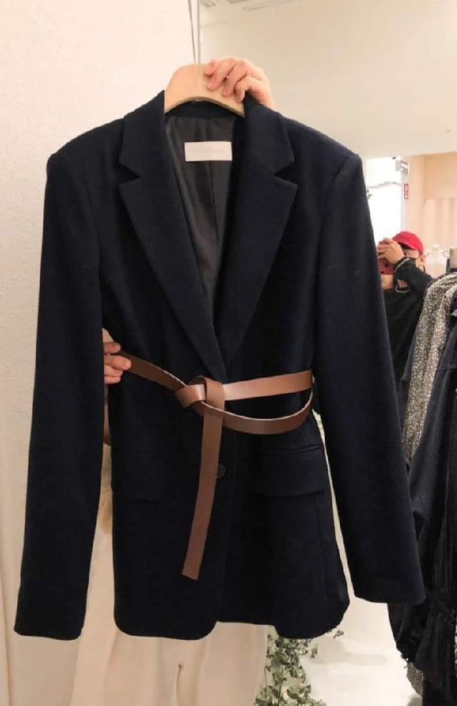 【預購】韓版西裝外套(附腰帶