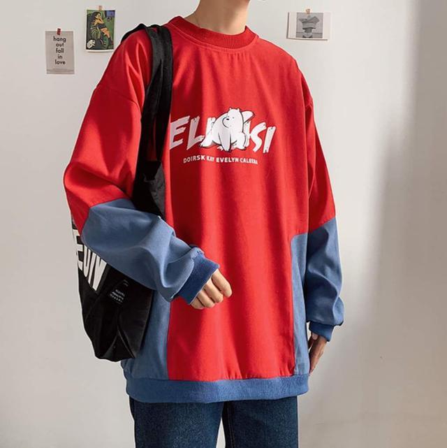 【預購】ins拼色上衣