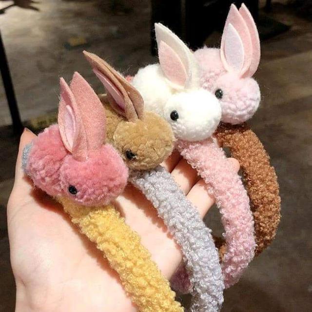 (預購S) 毛茸茸女童可愛長耳立體兔兔髮箍