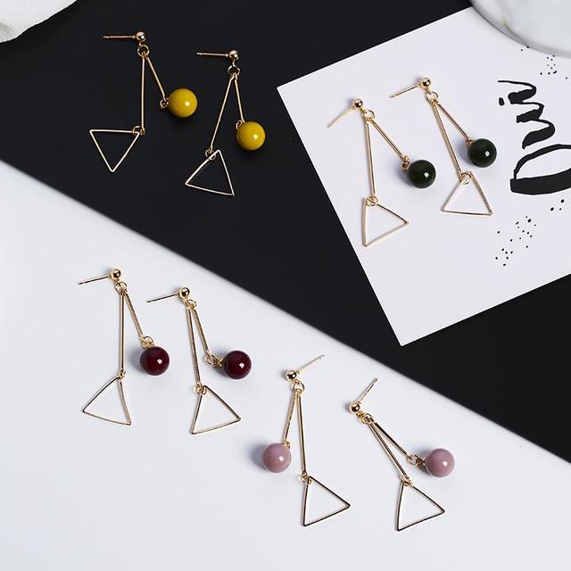 韓版簡約三角耳環