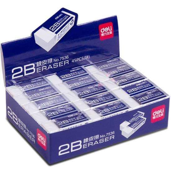 (預購S) 標準型考試專用2B橡皮擦(一組10個)