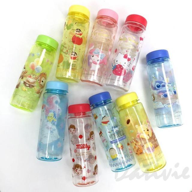 日本正版卡通 透明冷水瓶 500ml 日本進口正版授權