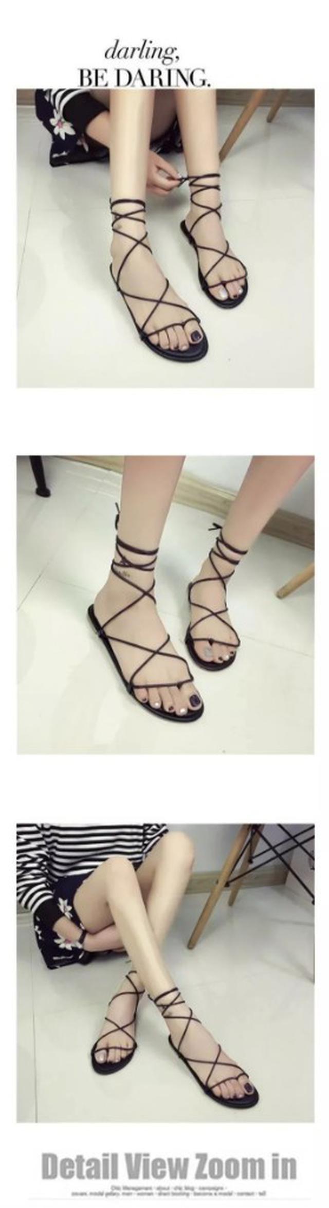 #預購 平底鞋交叉綁帶平跟羅馬涼鞋
