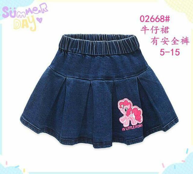 零碼特價💖 #02668  可愛牛仔短裙(有安全褲)