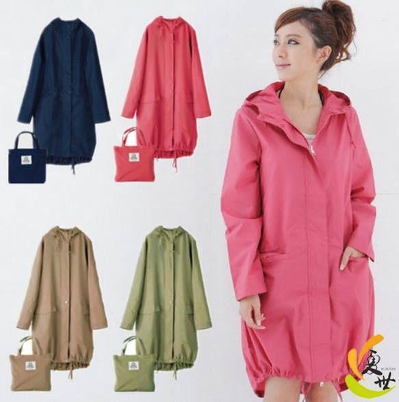 外銷日韓時尚輕便風衣雨衣