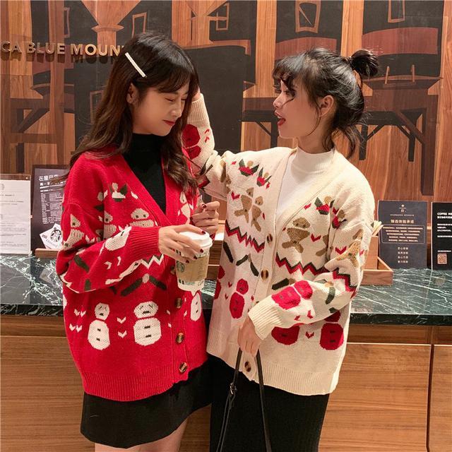 B 12/10 V領開衫針織毛衣外套(2色)