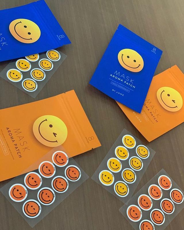 韓國製 笑臉 精油香薰貼 口罩貼