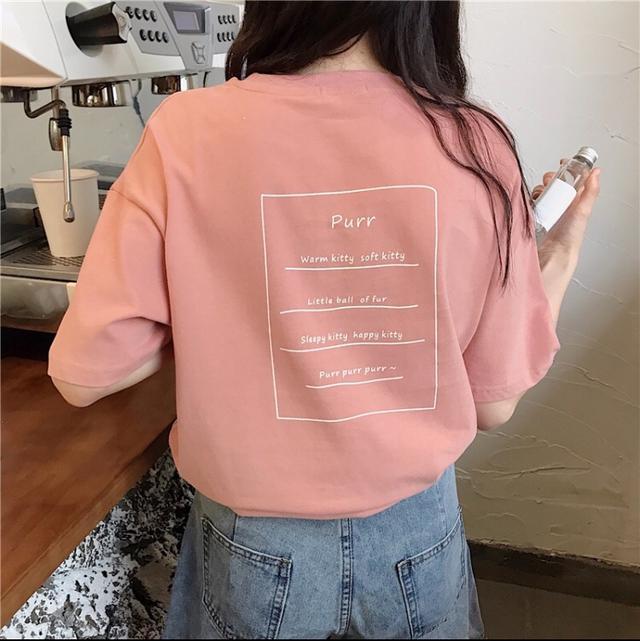 purr字母方框短袖上衣