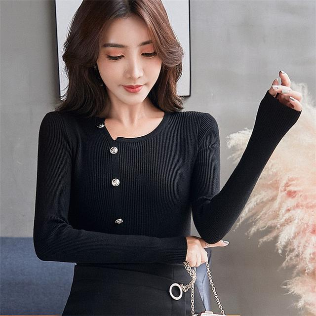 11 韓版寬鬆上衣百搭套頭針織打底衫