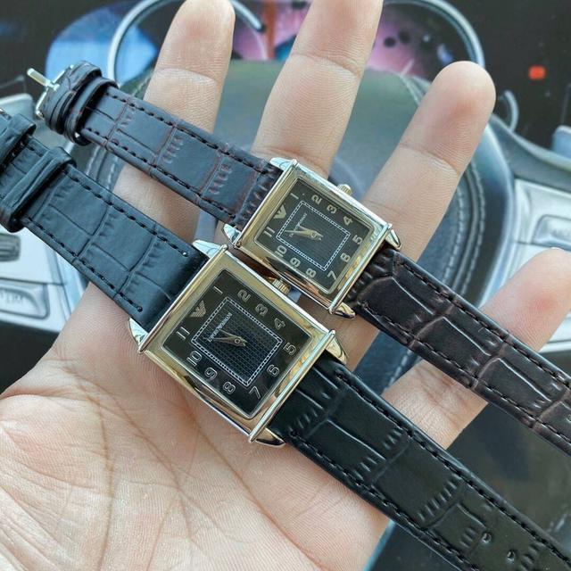 阿瑪尼Amani情侶對表長方型系列原裝進口瑞士石英機芯,原裝手錶扣,316L精鋼鋼殼