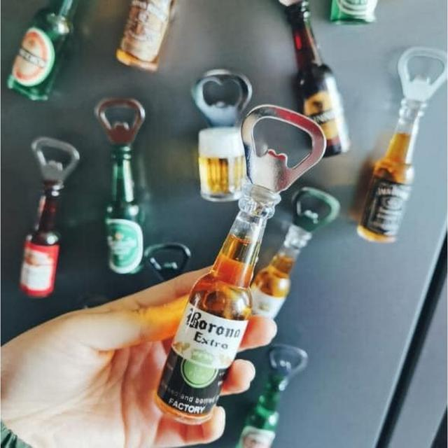 #預購G1008 - 趣味磁吸啤酒瓶造型開瓶器(一組3個