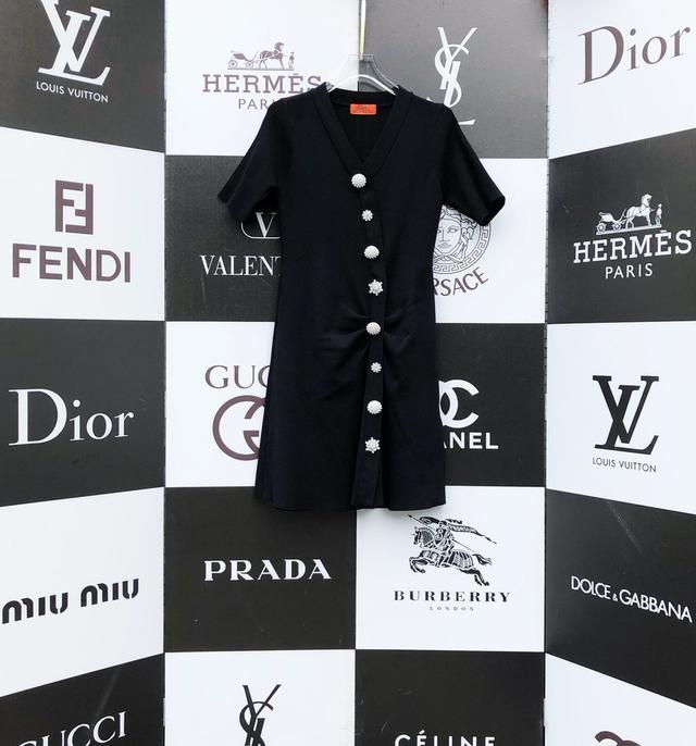 《Hermes—爱马仕》巴黎时尚大牌2020专柜新款1:1品質 春夏新款,针织连衣裙