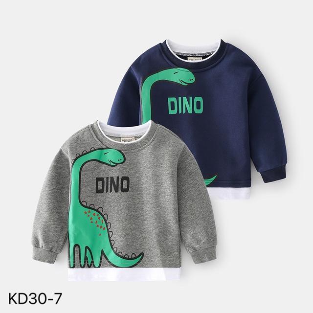 KD30-7 韓版假兩件恐龍休閒上衣