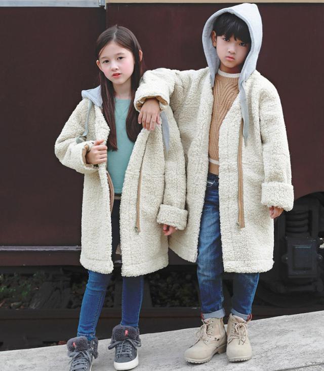 11 7-21 童裝 加厚仿羊羔毛外套 親子裝 9515