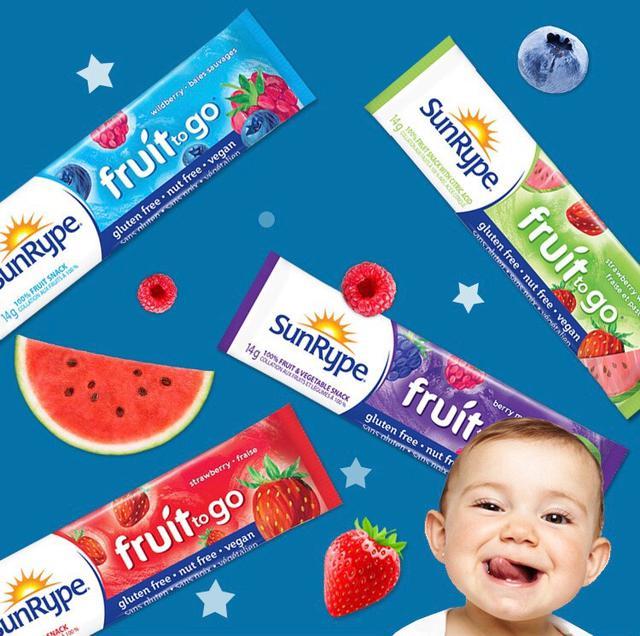 加拿大Sunrype綜合口味水果條 兒童 寶寶輔食 單條裝 14g/條