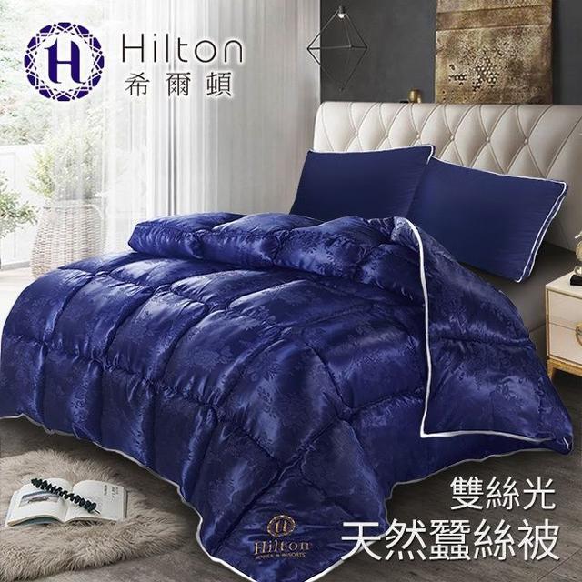現貨【Hilton希爾頓】 拜占庭雙絲光天然蠶絲被2.5KG/藍