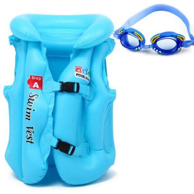 兒童救生衣 浮力背心充氣馬甲 學游泳裝備LSJ19072104