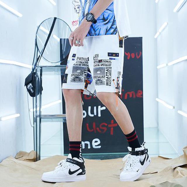 06 S-2XL 優質潮牌嘻哈寬鬆五分短褲(2色)