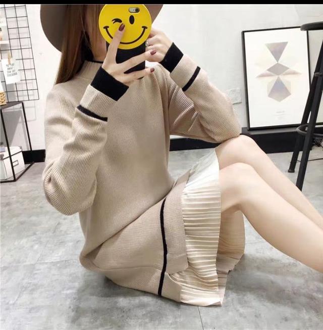 🌾預購款🌾秋冬季針織百搭過膝毛衣裙