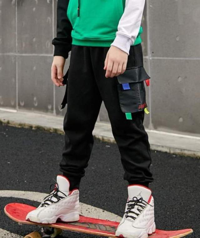 【預購】中大童雙口袋帥長褲